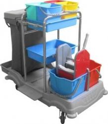 vozík plastový MILENYUM, pytel, ždímač