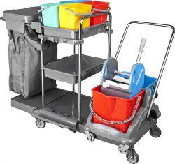 vozík plastový FAVORI + vozík malý, ždímač, pytel