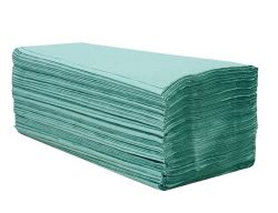ručník papírový skládaný ZZ, 1 vrstvý zelený bal. 20x250 ks