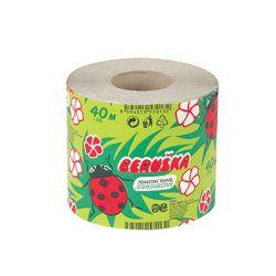 toaletní papír Beruška 40m, 1 vrstvý, 1 role, návin 40 m, 64 bal./pytel