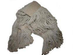mop bavlněný, třásňový, sešitý, s uchycením 17 cm, bílý 400 g