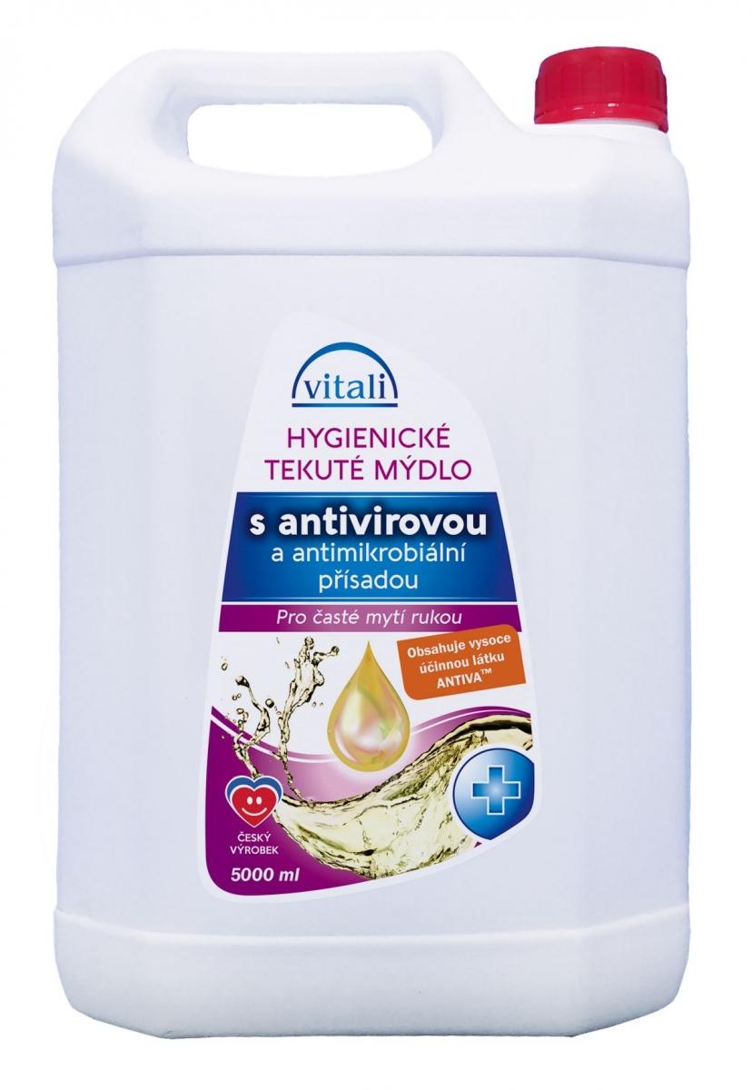 Vitali Hygienické antivir. a antimikrobiál. tekuté mýdlo 5000ml