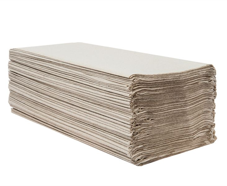 ručník papírový skládaný ZZ, 1 vrstvý šedý bal. 20x250 ks