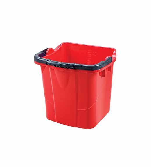 kbelík 25l modrý, červený