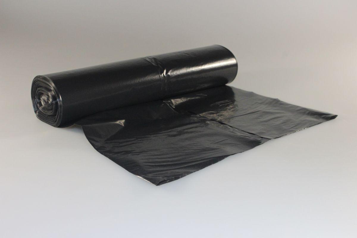 pytel 700x1100 - 120l, 40mi, černý, R, 25ks/rol
