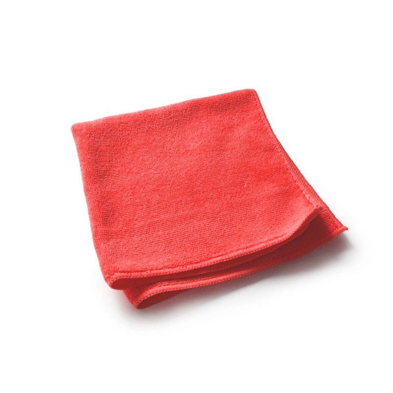 utěrka mikrovlákno, červená, GSM:320, 40x40 cm