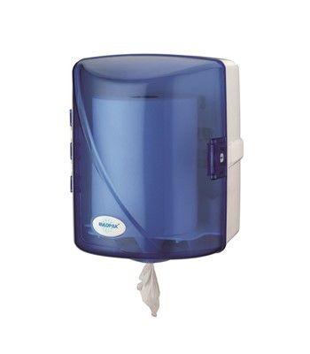 zásobník na rolované papírové ručníky se středem bez dutinky